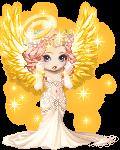 Shy golden angel