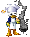 Donald Duck BBQin