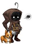 A jawa and It's pet dog.
