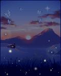 The Setting Sun & Rising Night