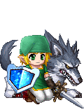 link and his wolf